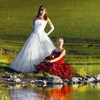 пост свадебное фото / trash the dress.